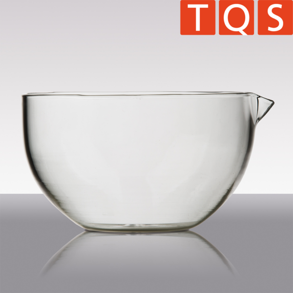 Quartz Glass evaporating dish with spout