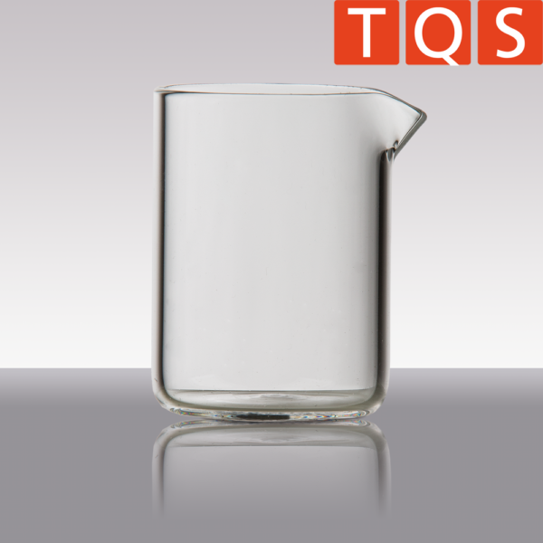 Quartz glass beakers with spout, low form