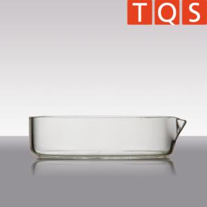 Quarzglas-Kristallisierschale mit Ausguss