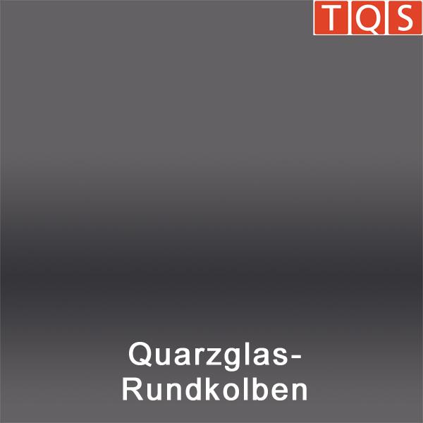 Quartz glass round flask
