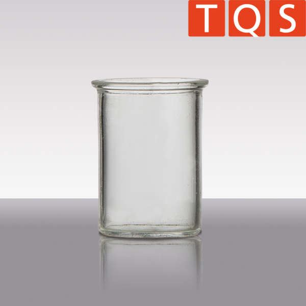 Quartz glass inceneration crucible