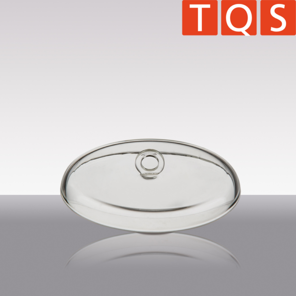 Quartz glass lid for inceneration crucible